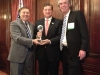George Tsetsekos and Paul McCulley present the Global Citizen Award to Jeffrey Lacker.
