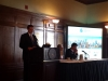 Don Rissmiller introduces the first panel