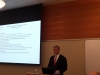 Patrick Harker, President of the Federal Reserve Bank of Philadelphia, welcomes the group