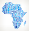Africa On Business Word Cloud Pattern